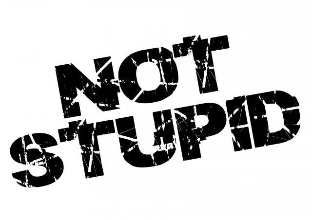 not stupid logo